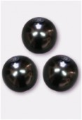 14mm Czech Smooth Round Pearls Hematite x300