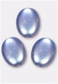 12x9mm Czech Smooth Oval Coin Pearls Lavender x4