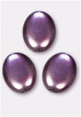 12x9mm Czech Smooth Oval Pearls Pearls Amethyst x300