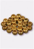 3mm Gold Plated Crimp Beads Jewellery Findings x5gr