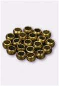3mm Antiqued Brass Plated Crimp Beads Jewellery Findings x5gr