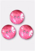 Shell Button 18 mm Red x100