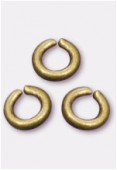 3mm Antiqued Brass Plated Open Jump Rings Findings x200