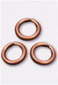 4mm Antiqued Copper Plated Open Jump Rings Findings x100