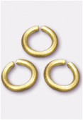 4mm Gold Plated Open Jump Rings Findings x100