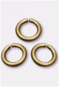 4mm Antiqued Brass Plated Open Jump Rings Findings x100