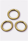 5mm Antiqued Brass Plated Open Jump Rings Findings x50