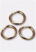 5mm Gold Plated Open Jump Rings Findings x50