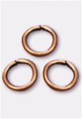 5mm Antiqued Copper Plated Open Jump Rings Findings x50