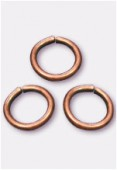 6mm Antiqued Copper Plated Open Jump Rings Findings x20