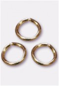 6mm Gold Plated Open Jump Rings Findings x20