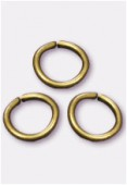 6mm Antiqued Brass Plated Open Jump Rings Findings x20