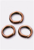 5mm Antiqued Copper Plated Closed Jump Rings x50
