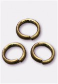 6 mm Antiqued Brass Plated Closed Jump Rings x50