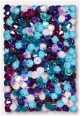 4mm Swarovski Crystal Bicone Beads 5328 Sheherazade Mix x50
