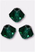 3mm Swarovski Crystal Bicone Beads 5328 Emerald x50