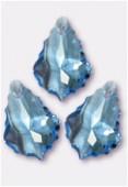 16x11mm Swarovski Crystal Baroque Pendant 6090 Aquamarine x1