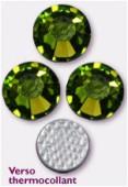 4mm Swarovski Crystal Hotfix Flatback Rhinestones 2038 SS16  Olivine M HF x1440