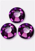 3mm Swarovski Crystal Flatback Rhinestones 2058 SS10 Amethyst F x1440