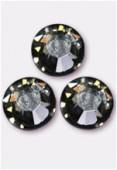 4mm Swarovski Crystal Flatback Rhinestones 2058 SS16 Black Diamond F x1440