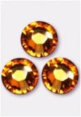 3mm Swarovski Crystal Flatback Rhinestones 2058 SS10 Topaz F x1440