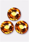 4mm Swarovski Crystal Flatback Rhinestones 2058 SS16 Topaz F x1440