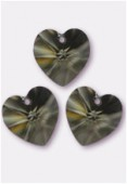 10.3x10mm Swarovski Crystal Pendant 6228 Black Diamond x4