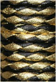 Synthetic Braided Leather Cord Black / Gold x92cm