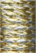 Synthetic Braided Leather Cord Silver / Gold x92cm