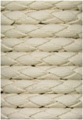 Synthetic Braided Leather Cord Ecru x92cm