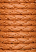 Synthetic Braided Leather Cord Ocher x92cm