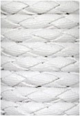 Synthetic Braided Leather Cord White x92cm