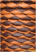 Synthetic Braided Leather Cord Ocher / Brown x92cm