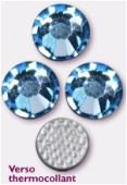 3mm Swarovski Crystal Hotfix Flatback Rhinestones 2038 SS10 Aquamarine M HF x1440