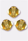 3mm Swarovski Crystal Bicone Beads 5328 Light Topaz x50