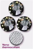 3mm Swarovski Crystal Hotfix Flatback Rhinestones 2038 SS10 Black Diamond M HF x1440