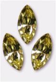 15x7mm Swarovski Crystal Xillion Navette Fancy Stone 4228 Jonquil F x1