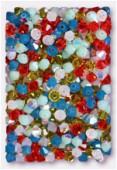 4mm Swarovski Crystal Bicone Beads 5328 Gypsy Mix x50