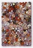4mm Swarovski Crystal Bicone Beads 5328 Klimt Mix x50