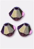 4mm Swarovski Crystal Bicone Beads 5328 Amethyst AB x50