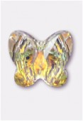 8mm Swarovski Crystal Butterfly Bead 5754 Crystal AB x1