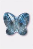 8mm Swarovski Crystal Butterfly Bead 5754 Aquamarine x1