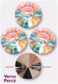 10mm Swarovski Crystal Rivoli Button 3015 Crystal AB x1