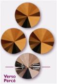 10mm Swarovski Crystal Rivoli Button 3015 Crystal Dorado x1