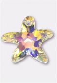 16mm Swarovski Crystal Starfish Pendant 6721 Crystal AB x1