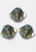 4mm Swarovski Crystal Bicone Beads 5328 Chrysolite AB x50