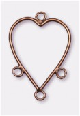 32x23mm Antiqued Copper Plated Heart Reducers / Links Great For Chandelier Earrings x2