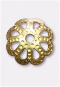 7mm Gold Plated Bead Caps x24