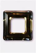 20mm Swarovski Crystal Classic Square Flat Back 4439 Crystal Tabac x1