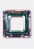 20mm Swarovski Crystal Classic Square Flat Back 4439  +Crystal Vitrail Light x1